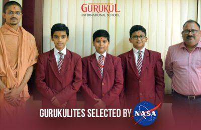Gurukulites Selected by NASA