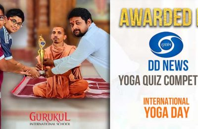 Awarded by DD News in Yoga Quiz Competition
