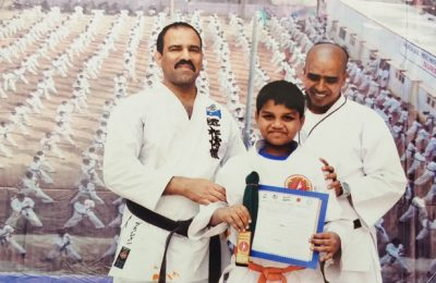 Gurukulite Wins Laurels at State Level Karate Competition