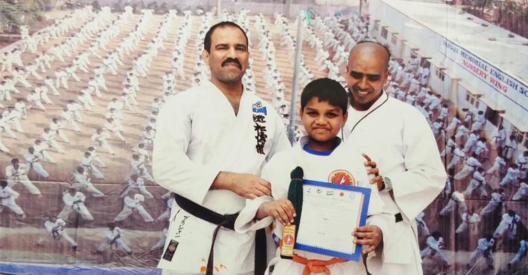 Gurukulite Wins Laurels at State Level Karate Competition