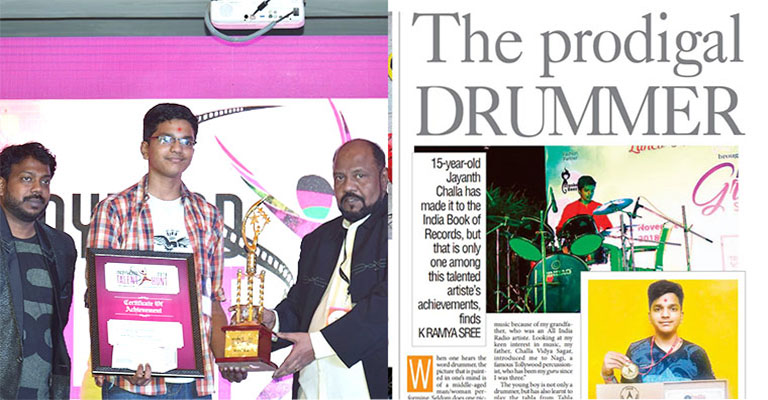 Youngest Drummer, A Gurukulite in India Book of Records
