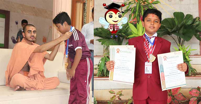 Gold Medal In Spell bee International Competition