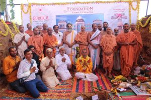 Foundation stone ceremony of Shree Swaminarayan Gurukul Mysore
