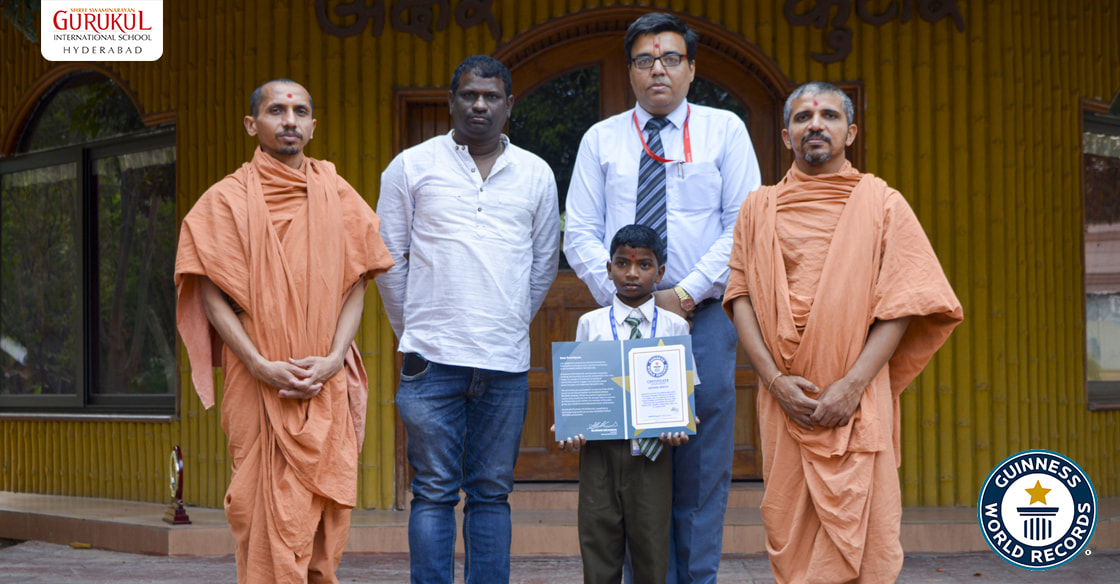 Gurukul Hyderabad boy bags Guinness World Record