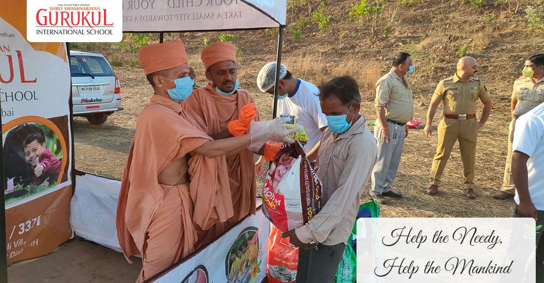 COVID19 – Help the needy, Help the mankind | Swaminarayan Gurukul